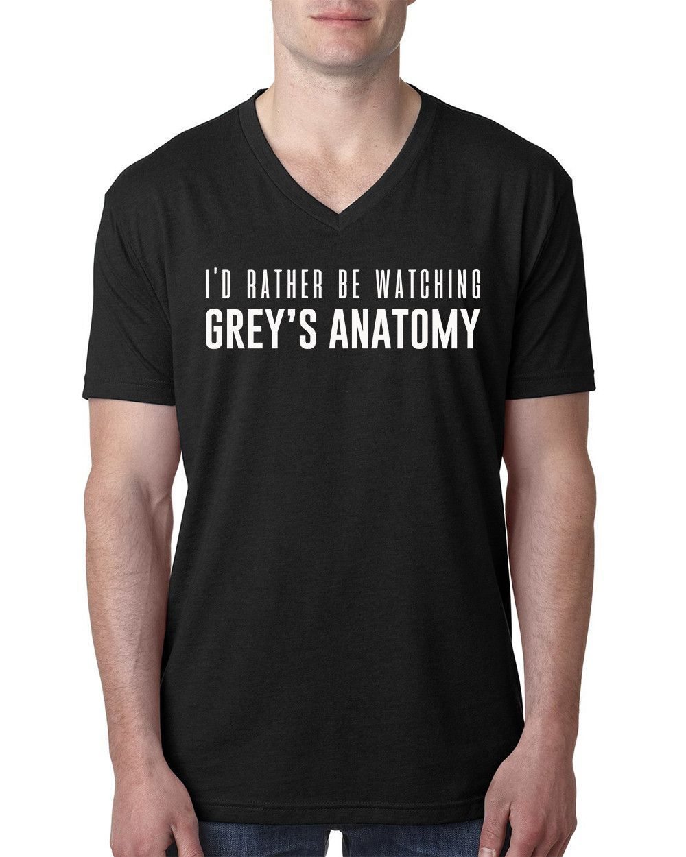 Id Rather Be Watching Greys Anatomy V Neck T Shirt Anatomy