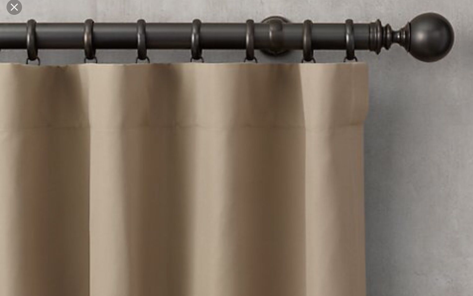 The Flat Drapery Pleat This Pleat Is The Simplest Pleat Style The Top Of The Drapery Panel Is Finished With Buc Drapery Panels Curtain Styles Panel Curtains