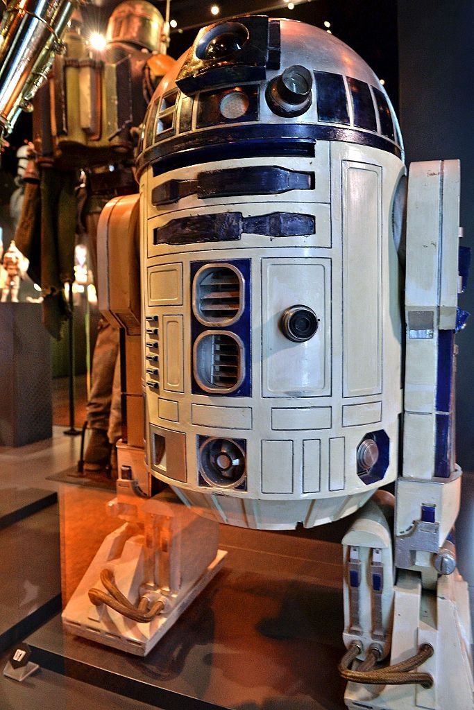 The costume worn by Kenny Baker as R2-D2. Photo / Getty