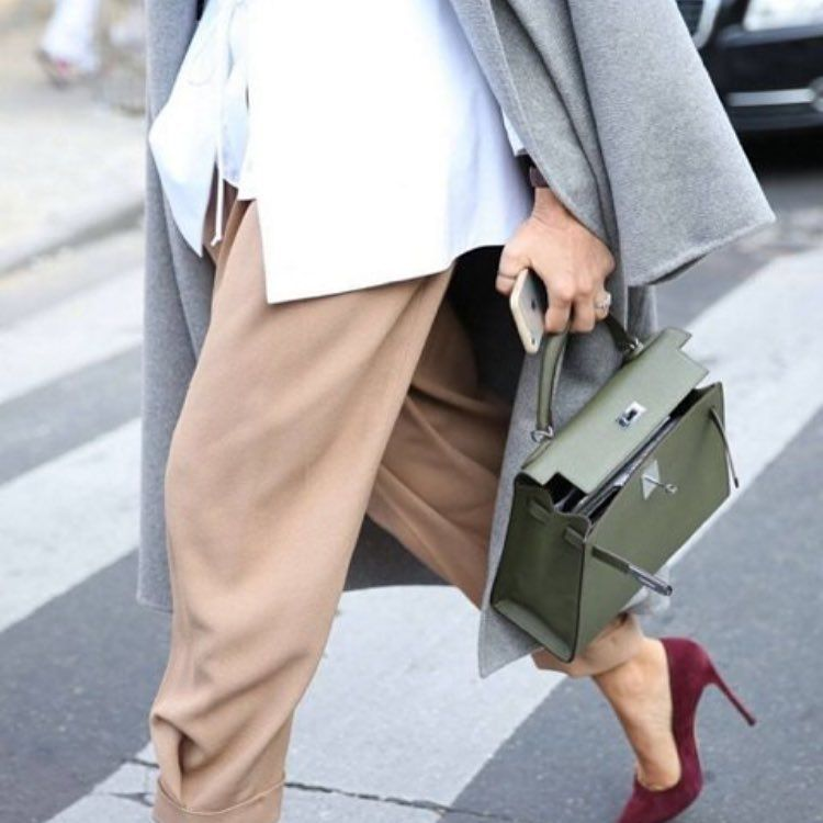 A classic Kelly combo can never go wrong  #Hermès #KellyBag #InvestmentPiece