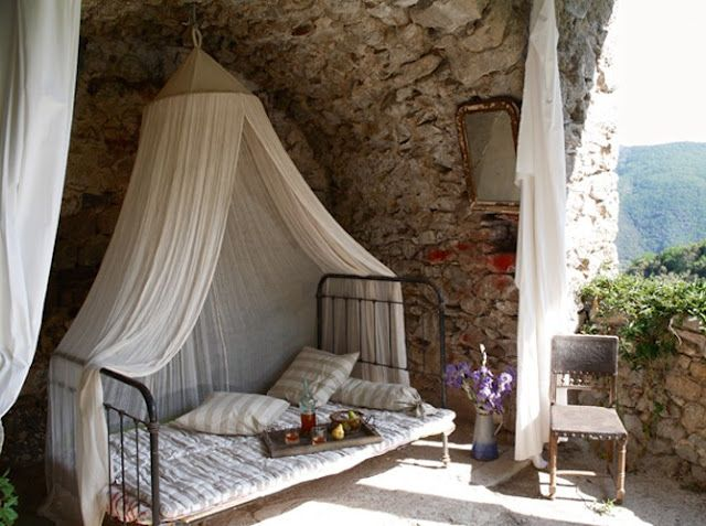 Outdoor Bed... Via Little Emma English Home