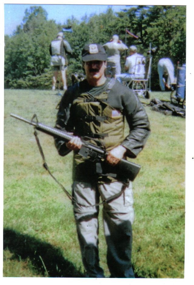 Steve Sciarabba with his National Match AR15 during CMP