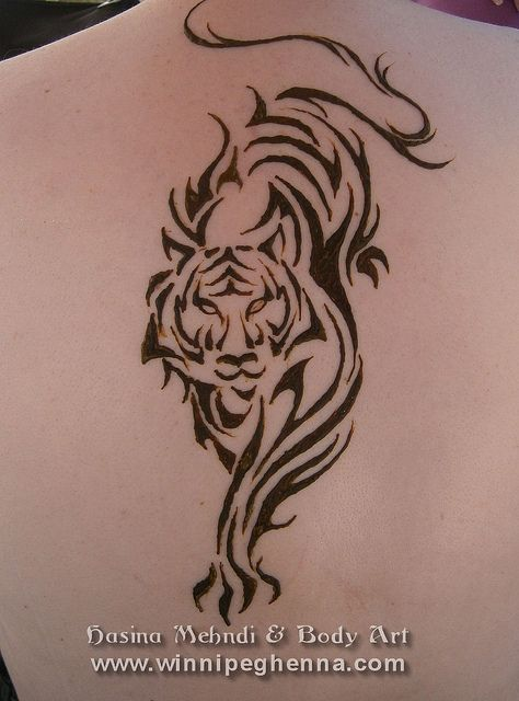 Henna Tattoo Tiger Gorgeous Simply Beautiful Tribal Tiger Tattoo Tribal Tiger Tiger Tattoo