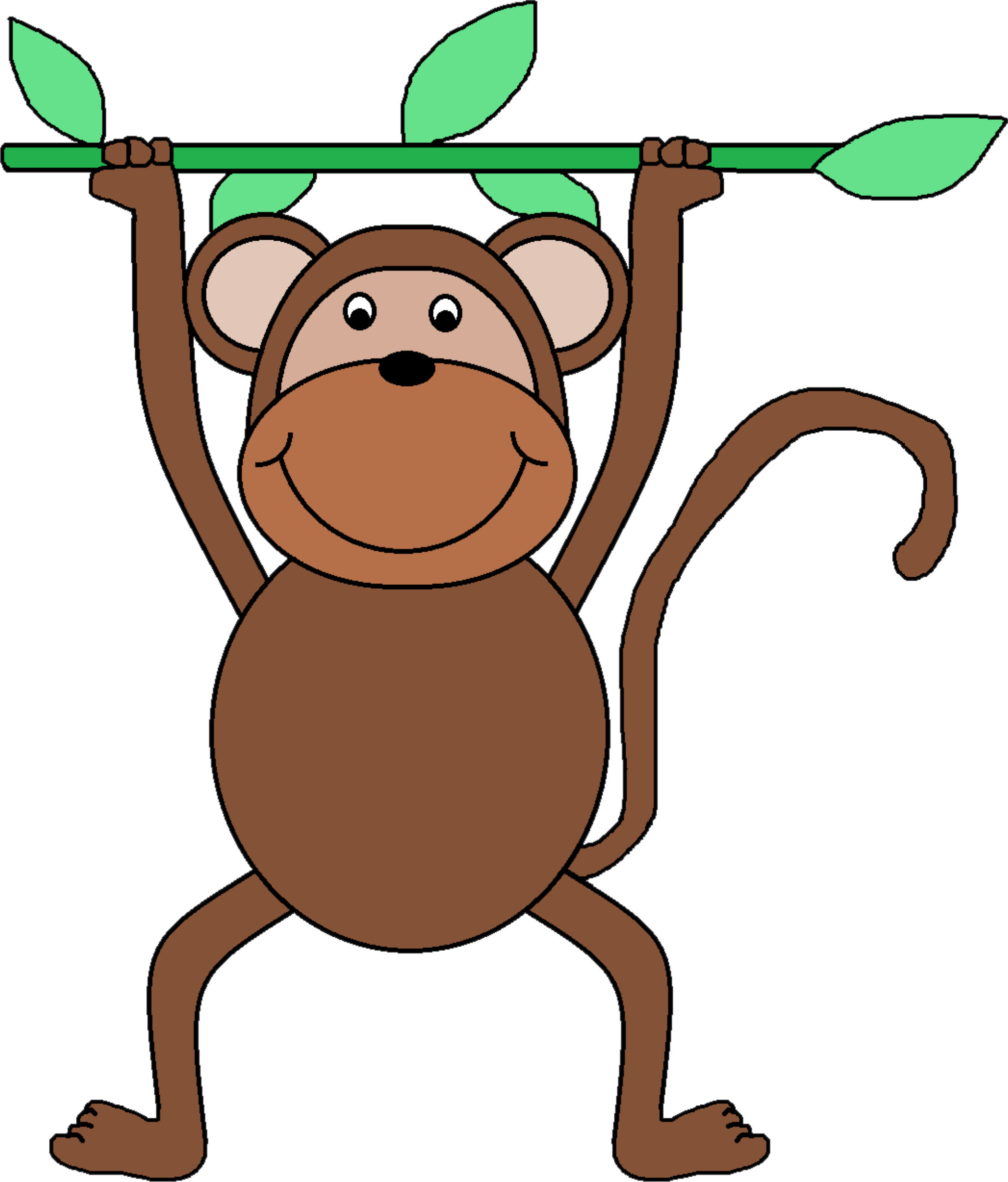 Monkey Clip Art By Xsodiqov Hanging Funny And Sweet Brown Monkey On Openclipart Monkey Clip Art Free Clip Art Clip Art
