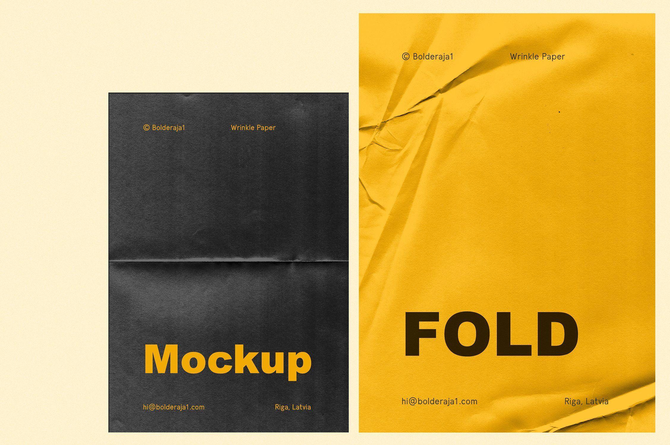 Download Fold 6 Wrinkle Paper Mockup Wrinkled Paper Paper Mockup Stationery Mockup