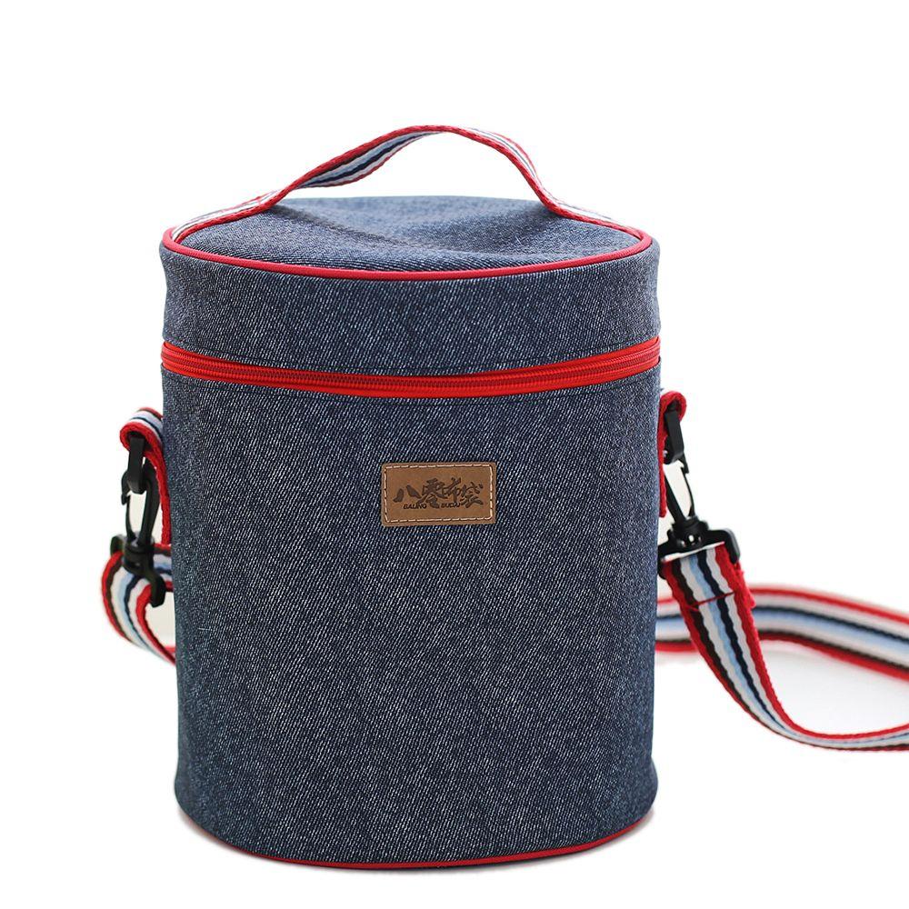 Gris STRIR Bolsa T/érmica para Llevar Comidas Almuerzo Fiambrera Isotermica Porta Alimentos Nevera de Botella 20 x 16.5 x 26 cm