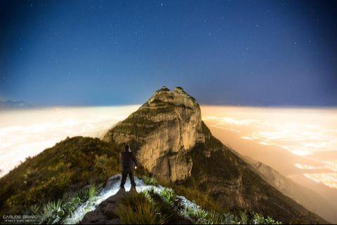 Pico Alfa, a 1980 mts de altura en el Cerro de las Mitras, Monterrey,