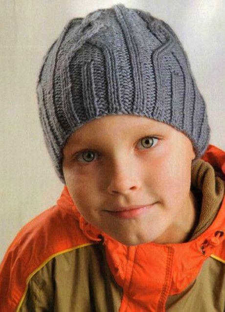 шапка для мальчика спицами 8 моделей с описанием схемой и мк