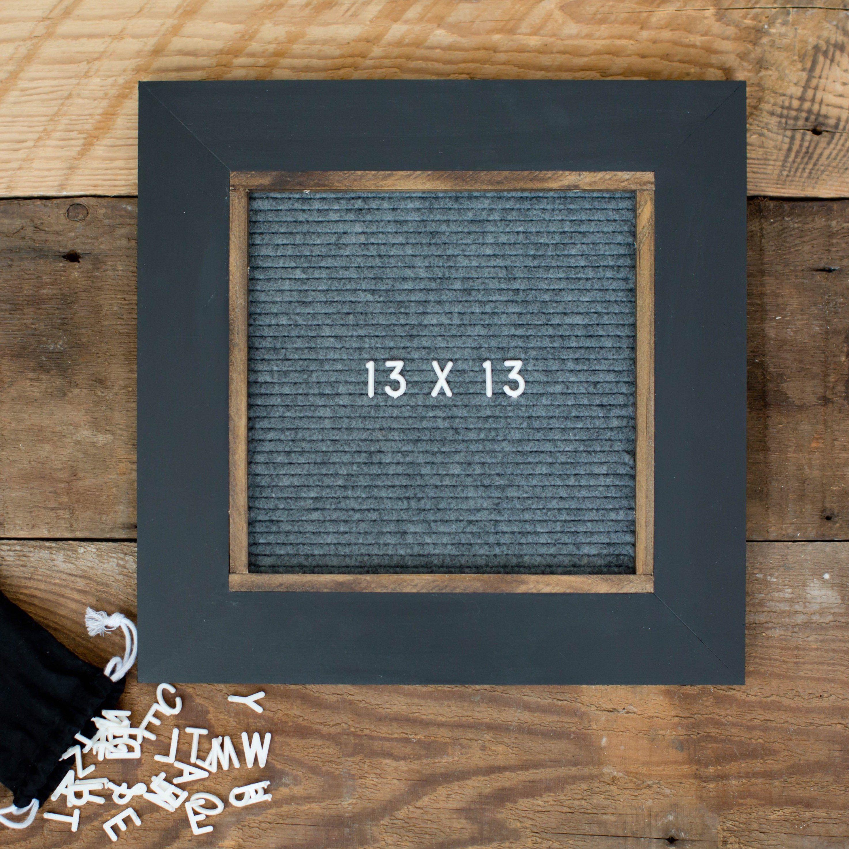 Black w/ Gray - Classic Frame - Letter Board - Small   Letter board ...