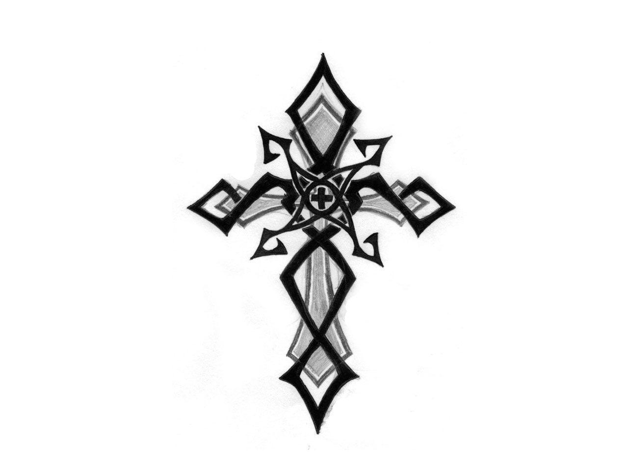 small tribal tattoos free designs penciled tribal cross tattoo wallpaper tattoos pinterest. Black Bedroom Furniture Sets. Home Design Ideas