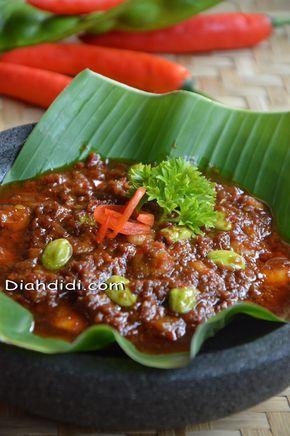 Diah Didi S Kitchen Sambal Matang Terasi Petai Udang Resep Masakan Makanan Pedas Masakan