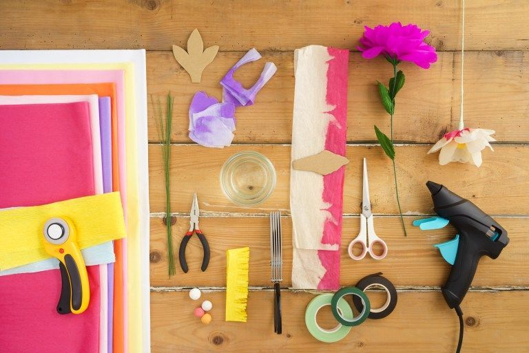 Make your own paper flowers: Paper Flower Making Supply List