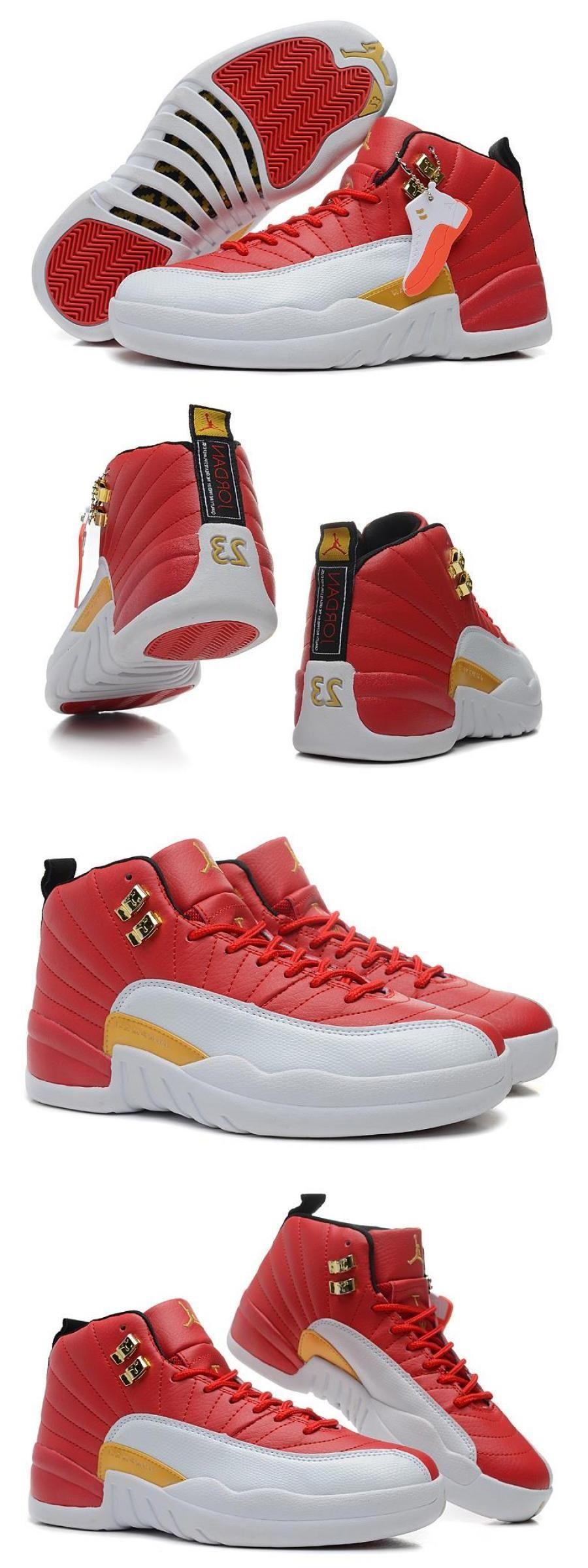 Air Jordan 12 Gs Cherry Red White in 2020