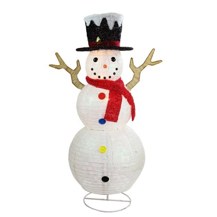 Fabric Seasonal Classic Top Noel Led Lighted Wholesale Indoor Christmas Decor Large Snow Christmas Yard Art Outdoor Holiday Decor Outdoor Christmas Decorations