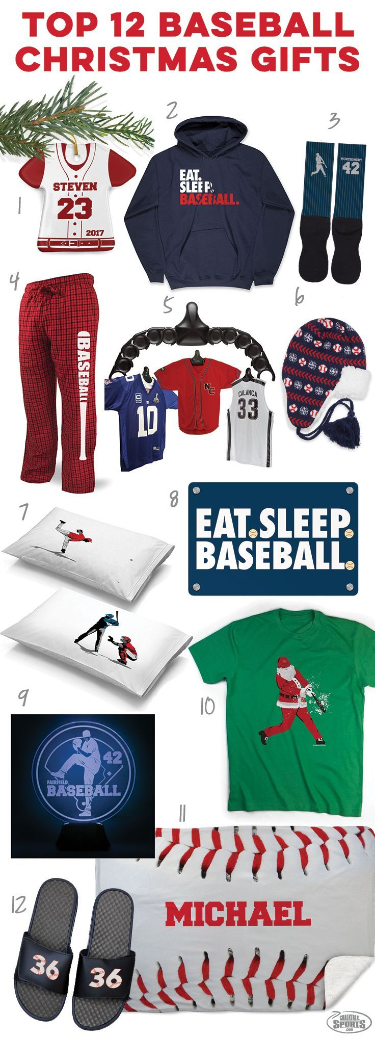 Check out these great holiday baseball gift ideas! Click