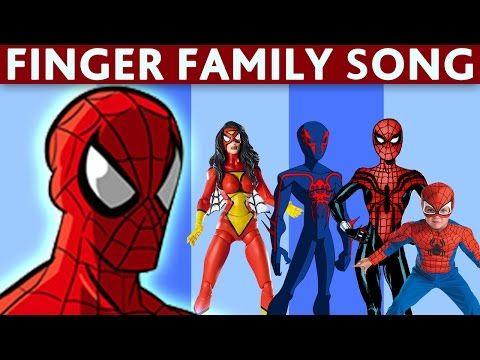 Finger family_Spider man 3 Finger family_Black Spider finger family (daddy finger) - YouTube