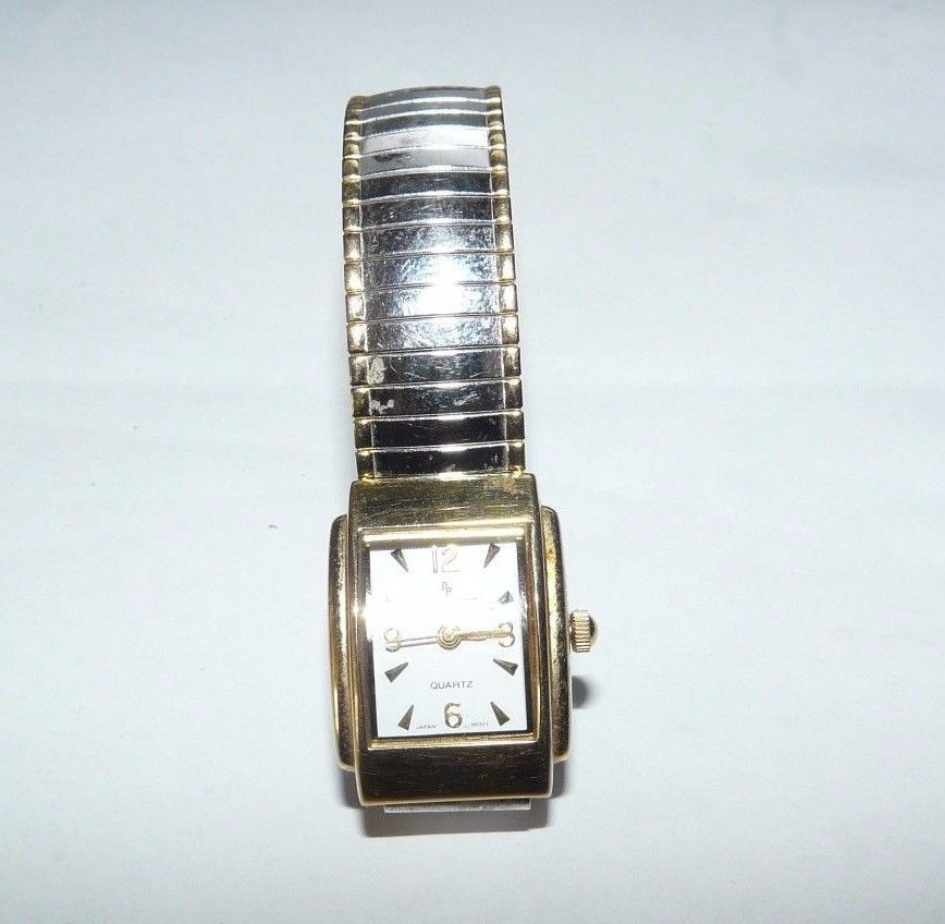 jewelry peugeot ladies quartz watch easy to read gold/silver tone