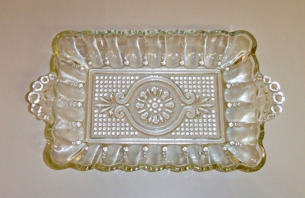 1326 Vintage Eapg Clear Pressed Glass Relish Tray Relish Trays Antique Glass Pressed Glass