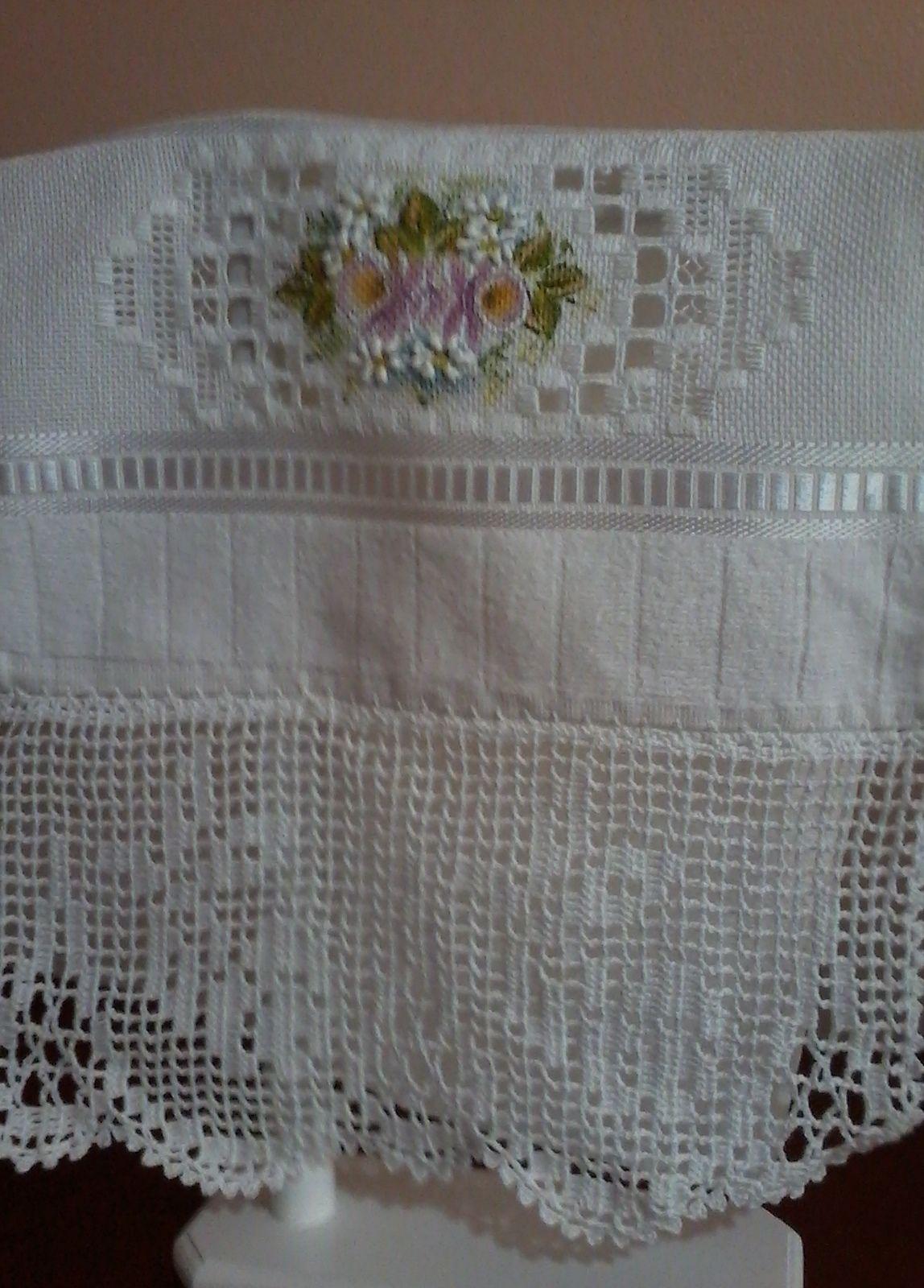 Hardanger Pintura E Crochet Barrados De Croche Bordado Livre