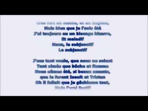Le subjonctif - Chantons ! Oldelaf Subjonctif (parole/lyrics) - YouTube