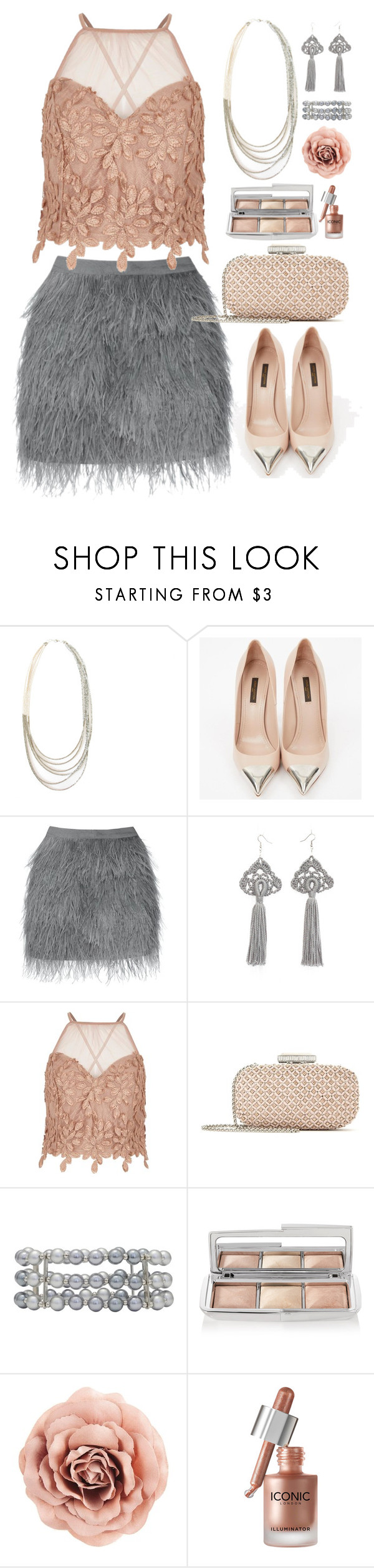"""""""Blush and Grey"""" by gicreazioni ❤ liked on Polyvore featuring Louis Vuitton, River Island, Oscar de la Renta, M&Co and Hourglass Cosmetics"""