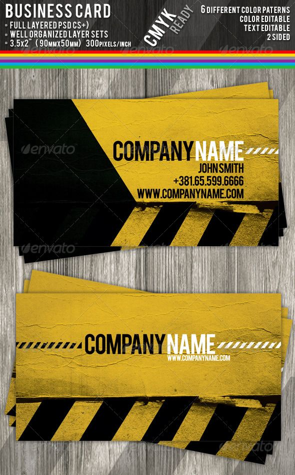 Construction Business Card Templates | Construction business cards ...