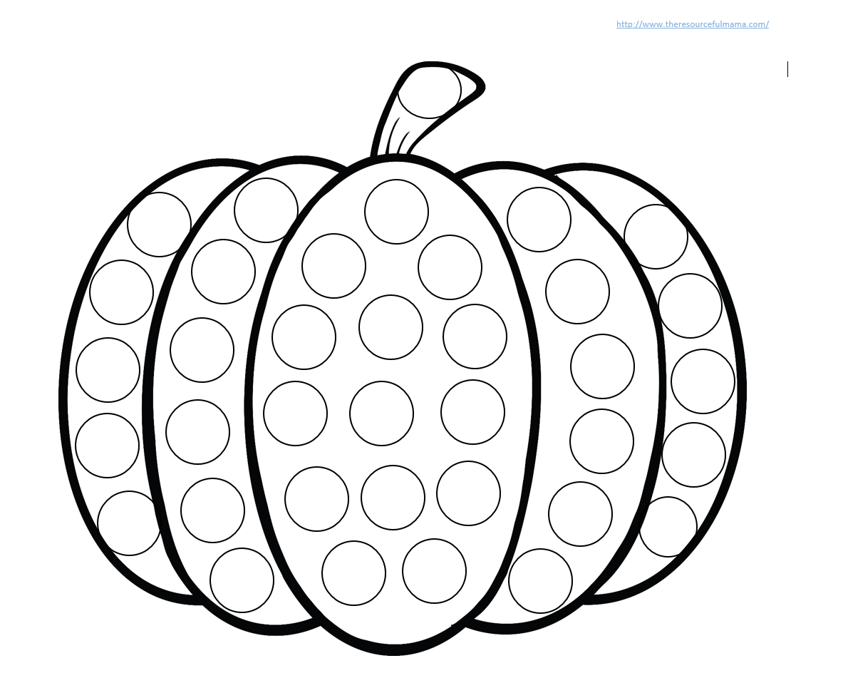 Pumpkin Do a Dot Worksheet – Printable Art Worksheets