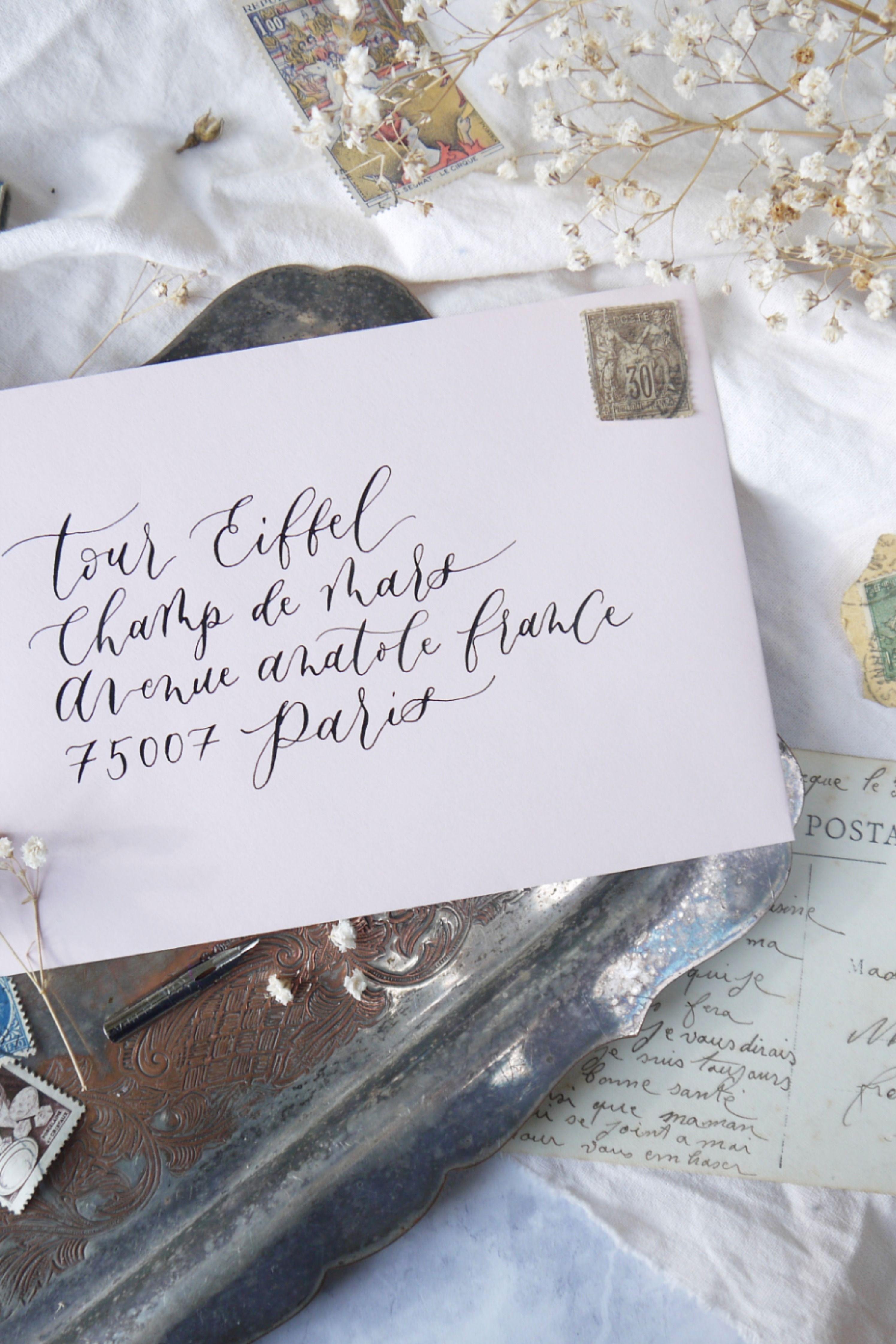 Calligraphy Envelope for Wedding, Personalised Handwritten