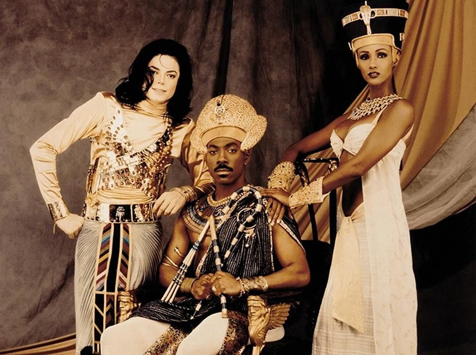 """Promo shots from Michael Jackson's """"Remember The Time"""" music video."""