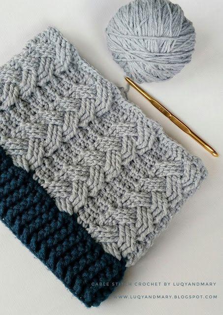 Cable Beanie Hat Free Crochet Pattern Crafty Pinterest Crochet