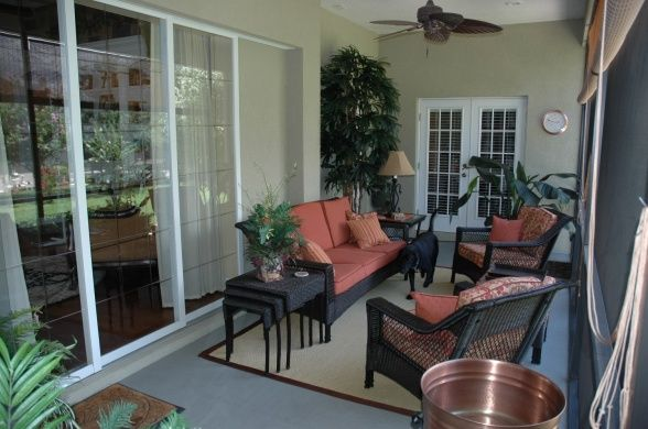 Decorating a lanai in florida comfy lanai we wanted a for Small lanai decorating ideas