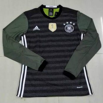 666694ba1 AAA Thai Quality Germany 2016 Euro Away Green L S Soccer Jersey ...