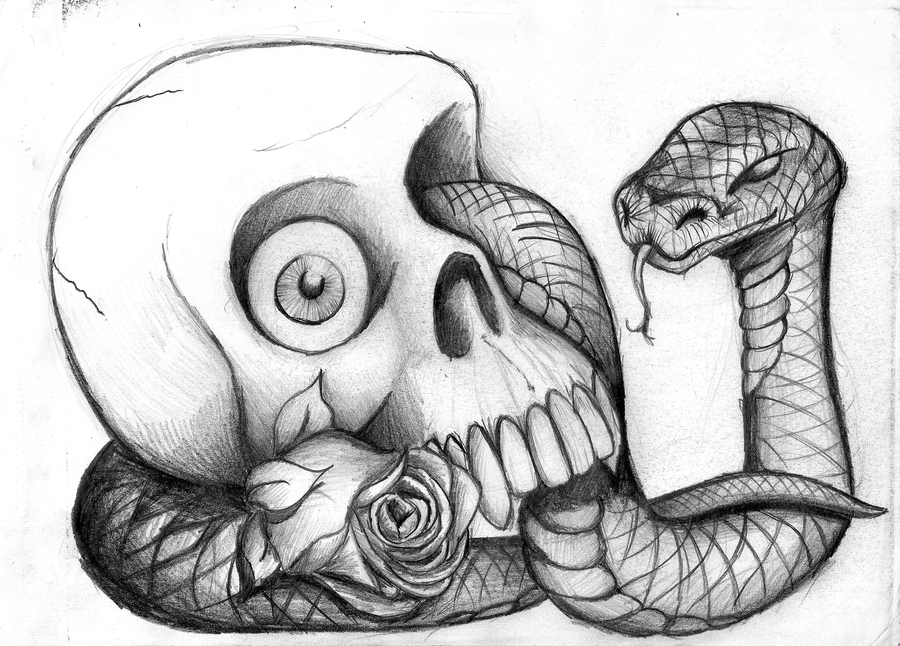 Valentines For > Cool Drawings Of Skulls And Roses | Art ...