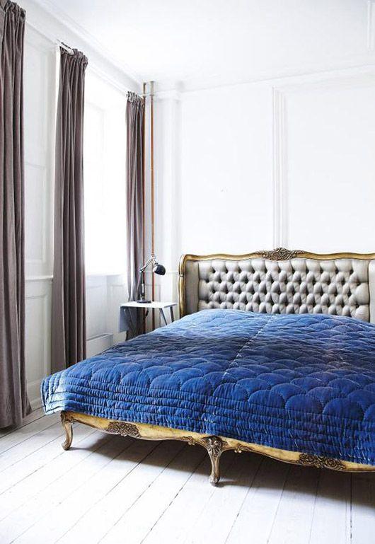 blue velvet quilt. / sfgirlbybay