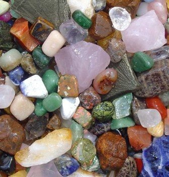 gemstones/rocks - I used to collect these like crazy when I was a kid. Haha