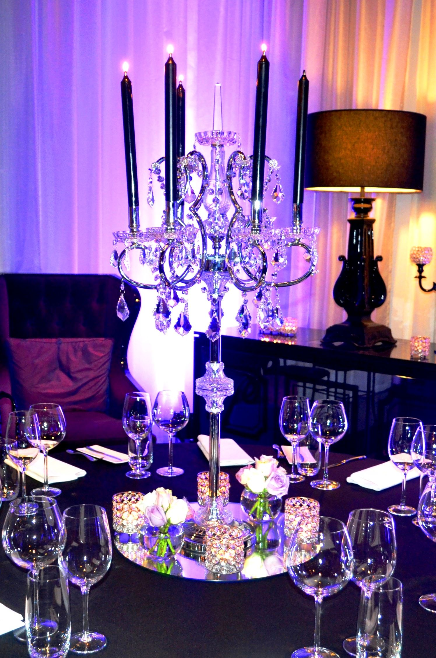 For More Of An Evening Romance Look Use Candelabra S