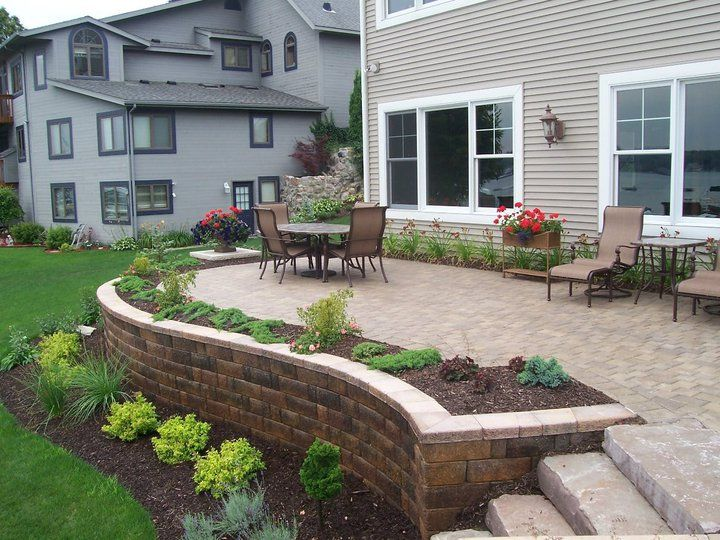Green Lake Retaining Walls, Patio and Firepit | Patio in ... on Green Wall Patio id=97833