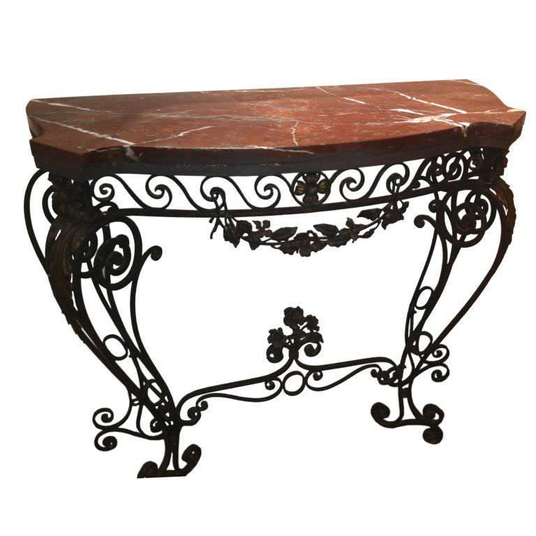 1930s Wrought Iron Console Table In 2021 Iron Console Table Wrought Iron Console Table Iron Console Wrought iron sofa table