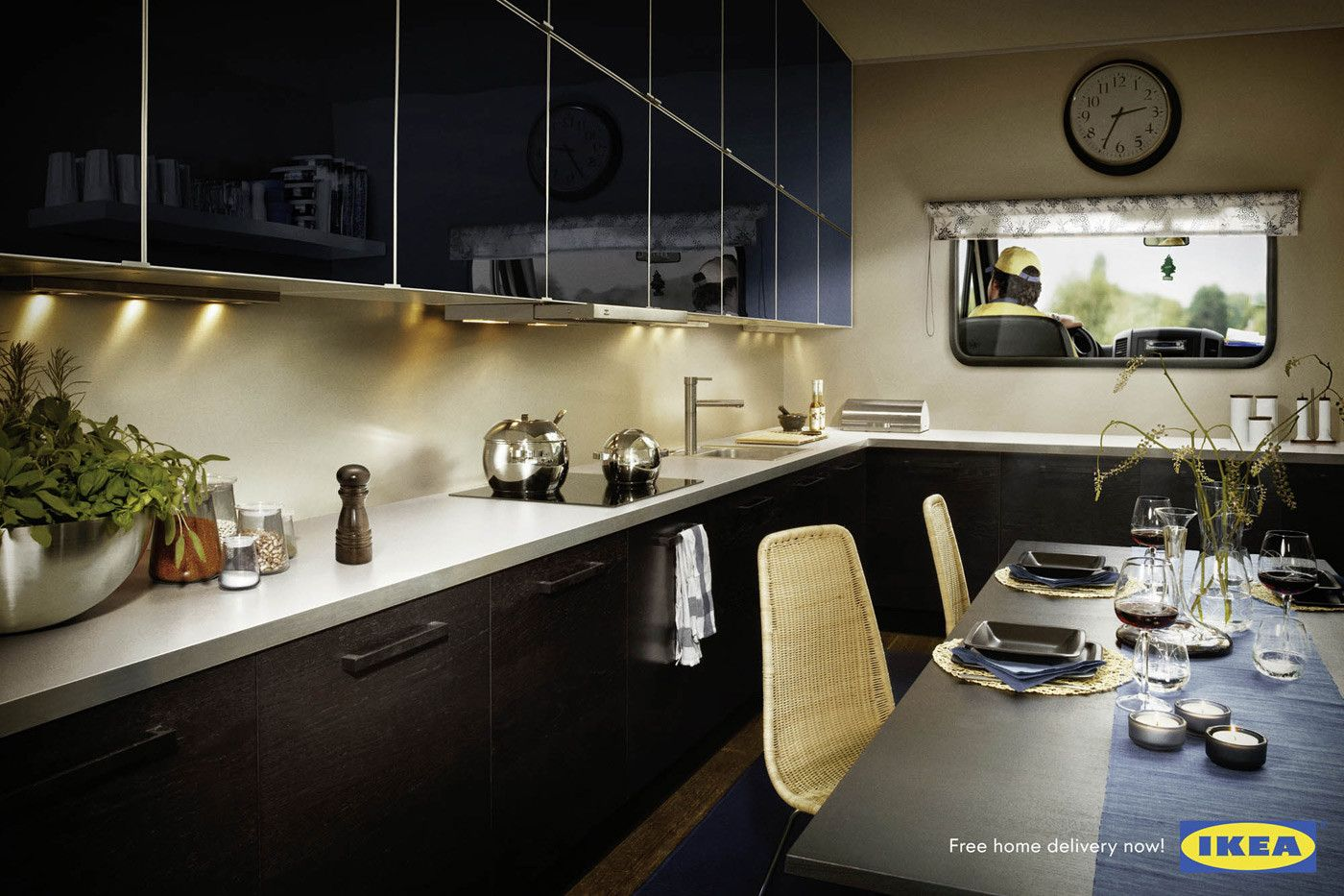 Ikea | Free Home Delivery | Concept Ads | Ikea kitchen ...
