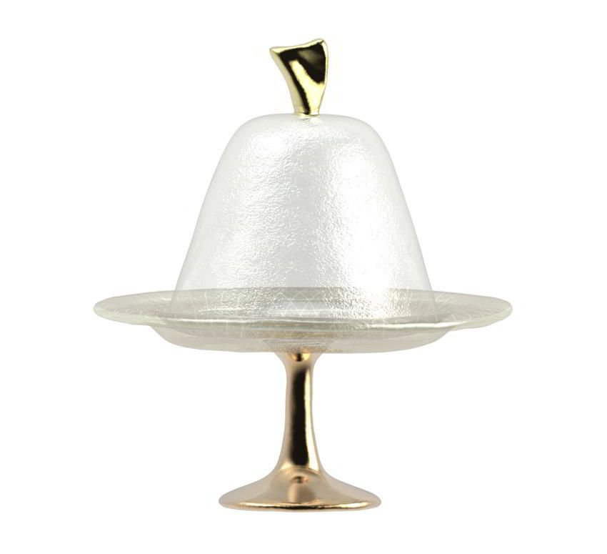 small cake stand with dome lid