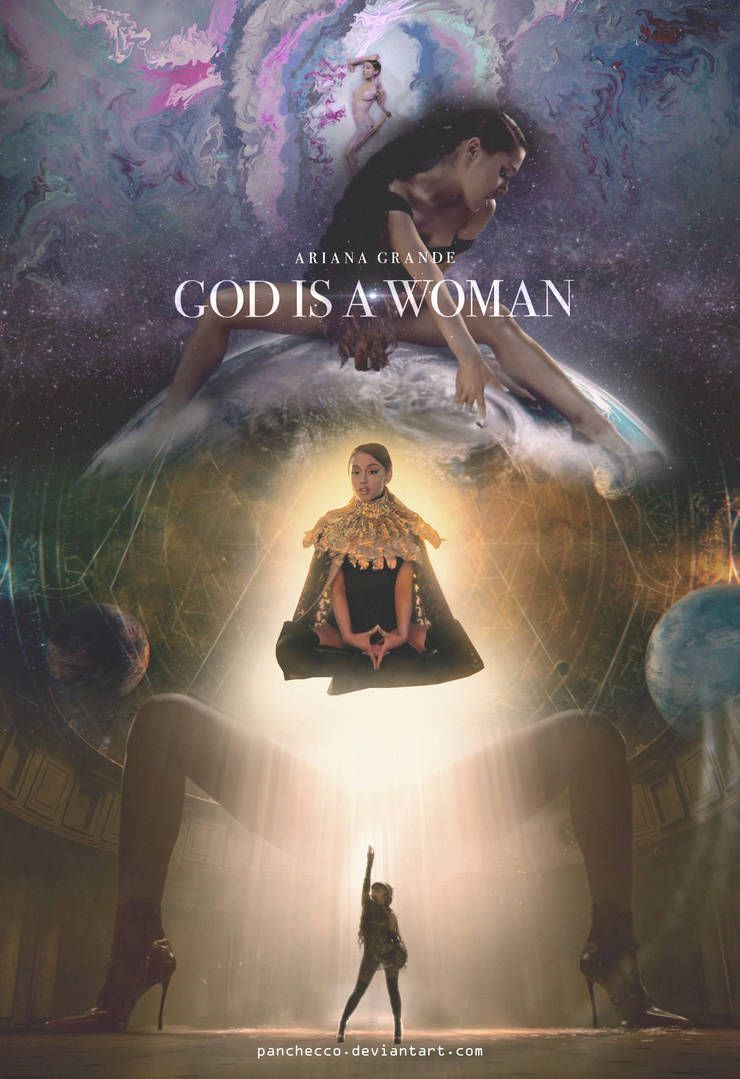 Ariana Grande God Is A Woman Poster 1 By Panchecco Ariana