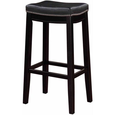 Linon Claridge Bar Stool 32 Inch Seat Height Multiple Colors Primitivediningrooms Wood Bar Stools Bar Stools Red Bar Stools 32 inch bar stools