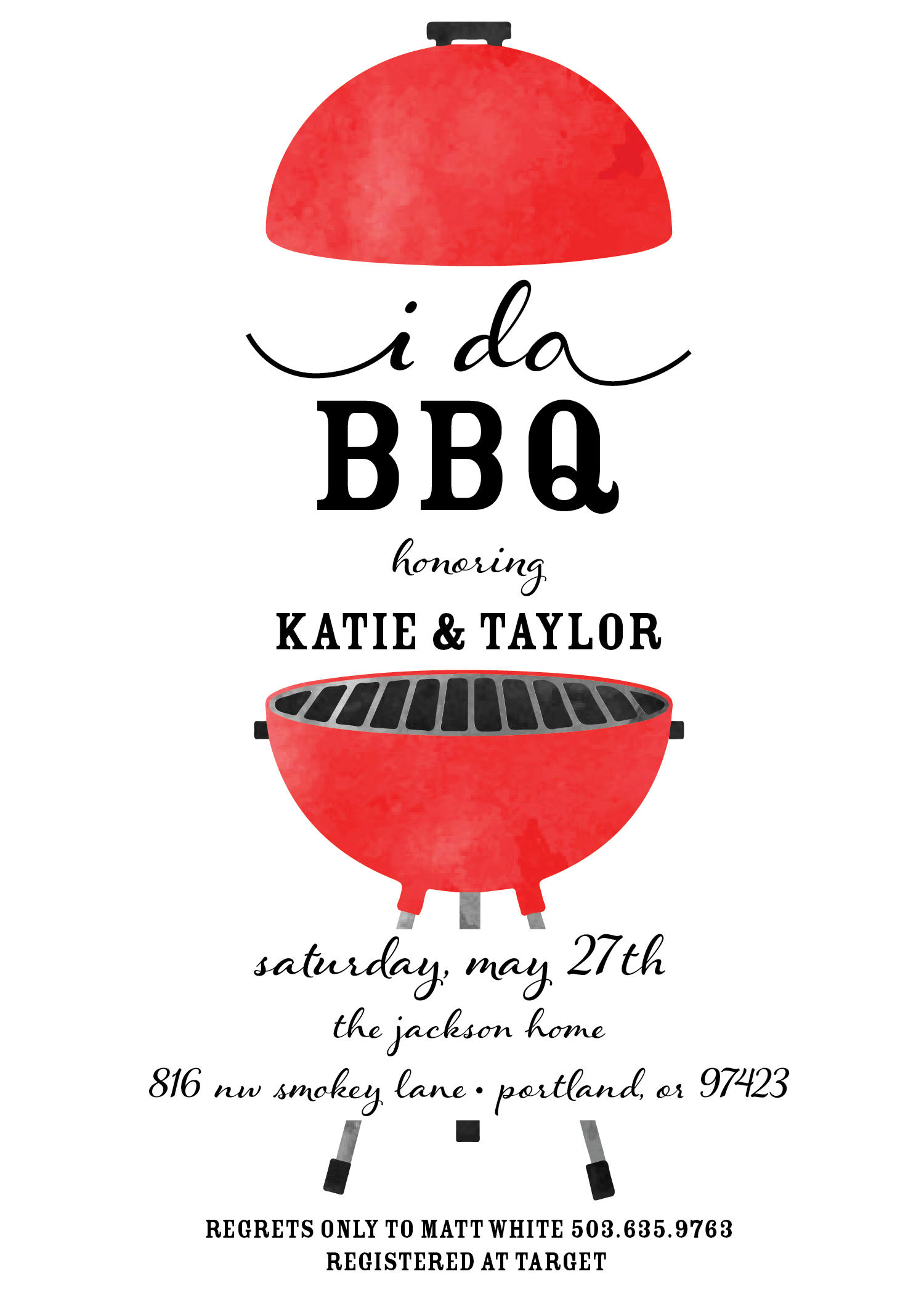 BBQ Save The Date / Couple Save Our Date / Barbecue Invitation ...