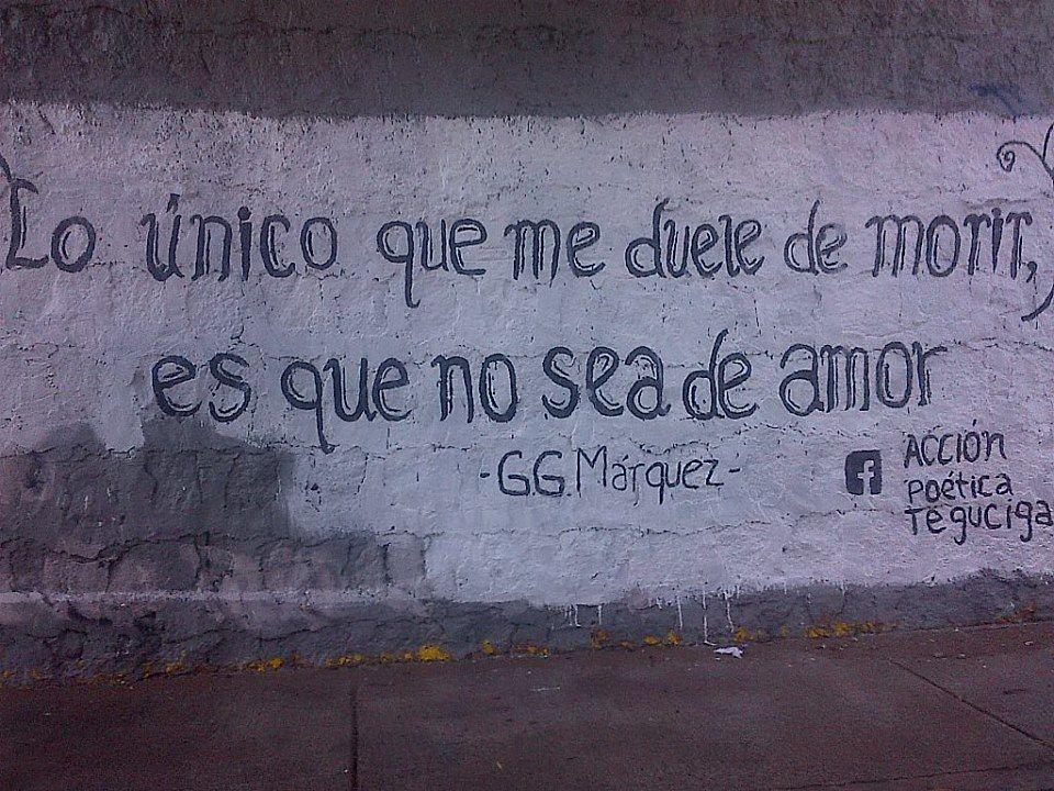 Gabriel García Márquez en acción poética, Honduras.