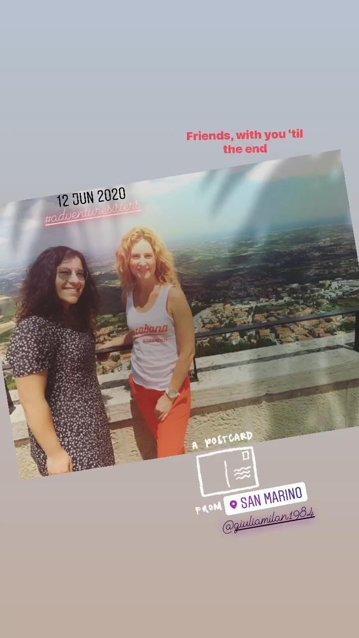 Adventure sisters in #SanMarino 🇸🇲