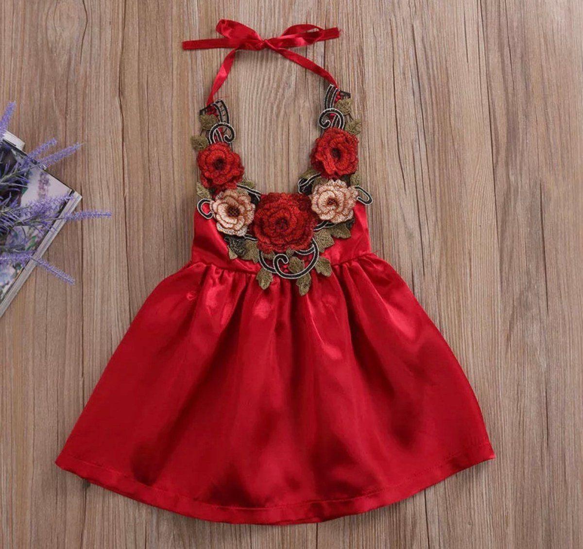Pretty little me u red rose dress aerilyn pinterest