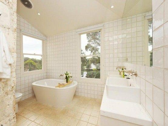 Love Floor To Ceiling Tiles In Bathrooms