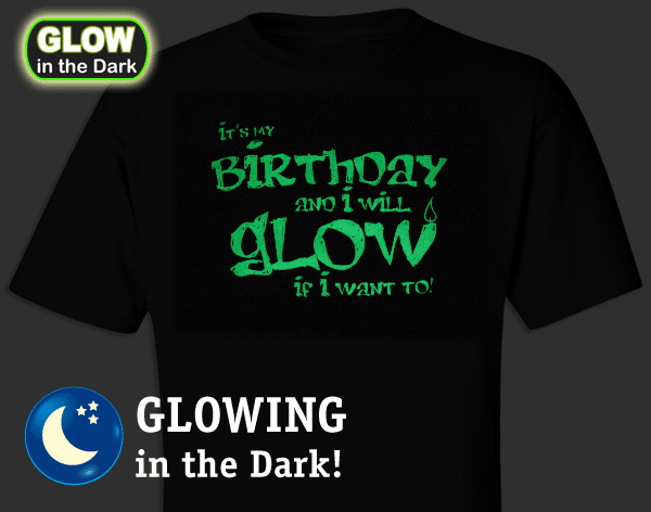 Sample Glow Birthday In The Dark T Shirt
