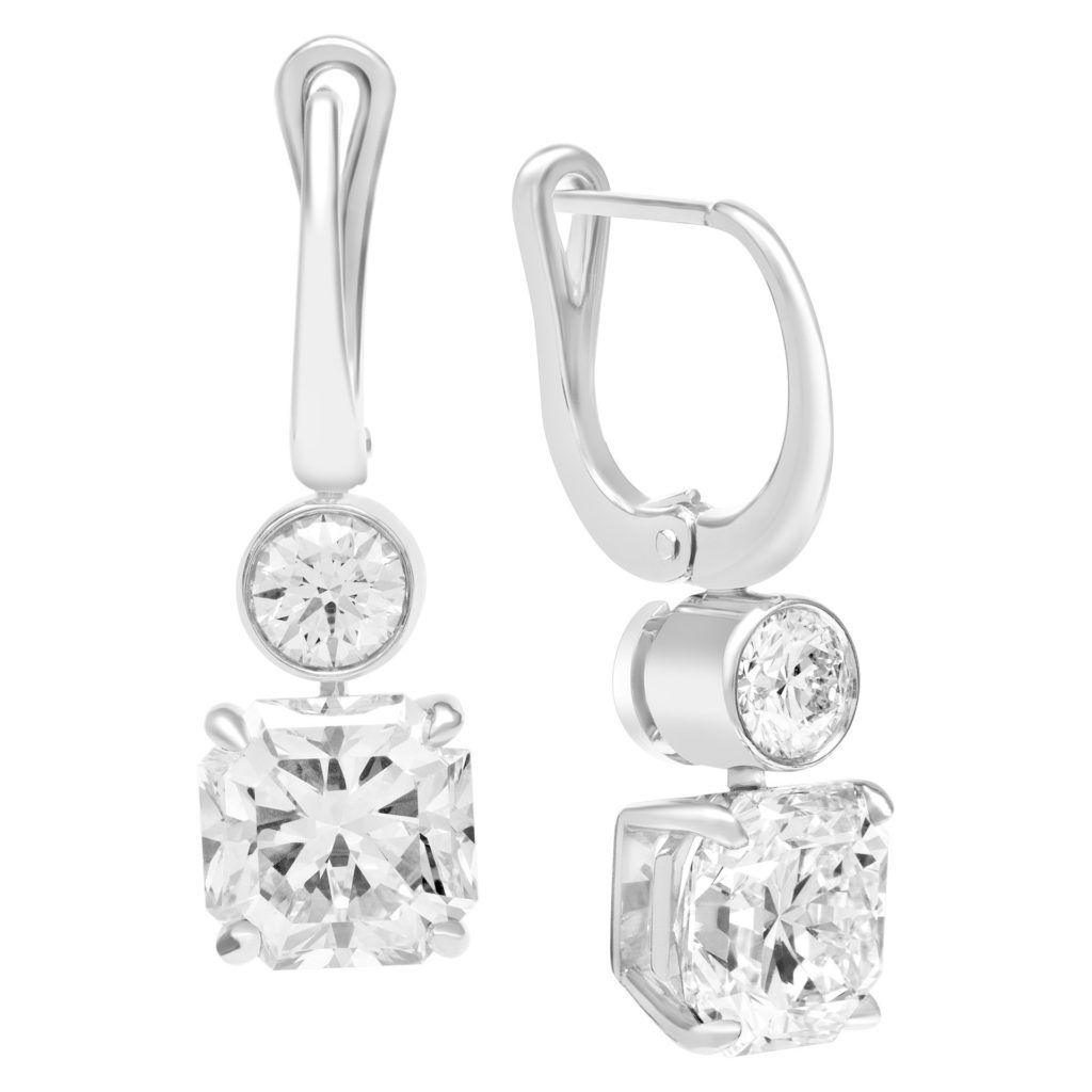 Tiffany Lucida Diamond And Platinum Drop Earrings