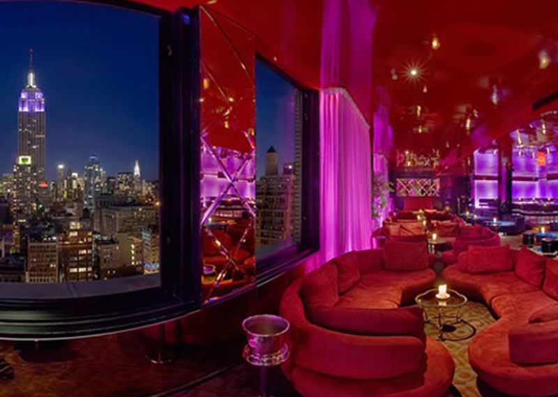 Hospitality Interior Design 230 Fifth Restaurant Penthouse North Lounge Bar New York NY - New York's Home, Design and Gifts Market | New York Markt